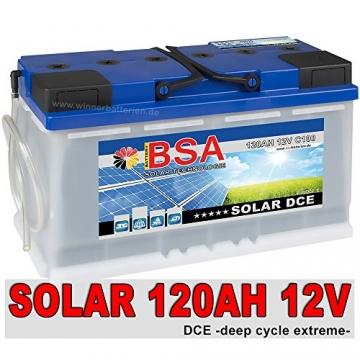 BSA Solarbatterie 120Ah 12V Versorgungsbatterie