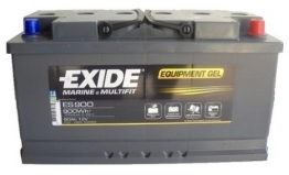 Exide Campingbedarf Equipment 80Ah Batterie Gel ES 900