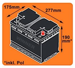 WINNER Solarbatterie 100Ah C100 12V Versorgungsbatterie