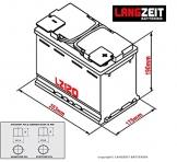 Solarbatterie 120Ah C100 12V Versorgungsbatterie