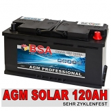 Solarbatterie 120Ah 12V Versorgungsbatterie AGM GEL