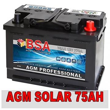 BSA Solarbatterie 75Ah 12V AGM GEL Versorungsbatterie