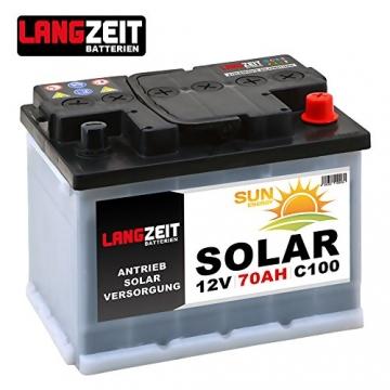 LANGZEIT Solarbatterie 70Ah 12V