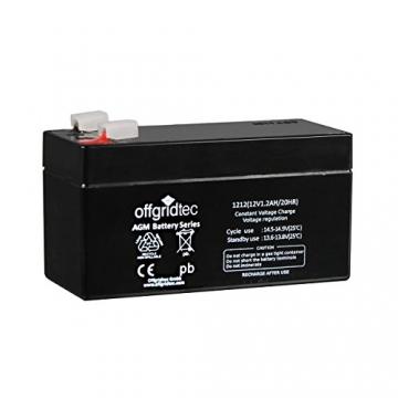 Offgridtec AGM Solar Batterie Extrem zyklenfest 1,2 Ah 20 Stünde 12 V, 2-01-001975 -
