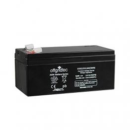 Offgridtec AGM Solar Batterie Extrem zyklenfest 3,2 Ah 20 Stünde 12 V, 2-01-001980 -